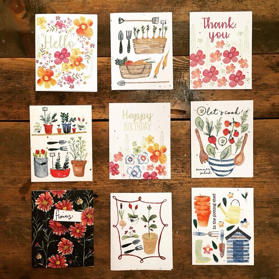 Handmade paper greetings cards cornflower calico handmade paper greetings cards m4hsunfo